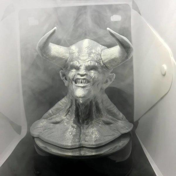 pla filamento argento silver glitter demone