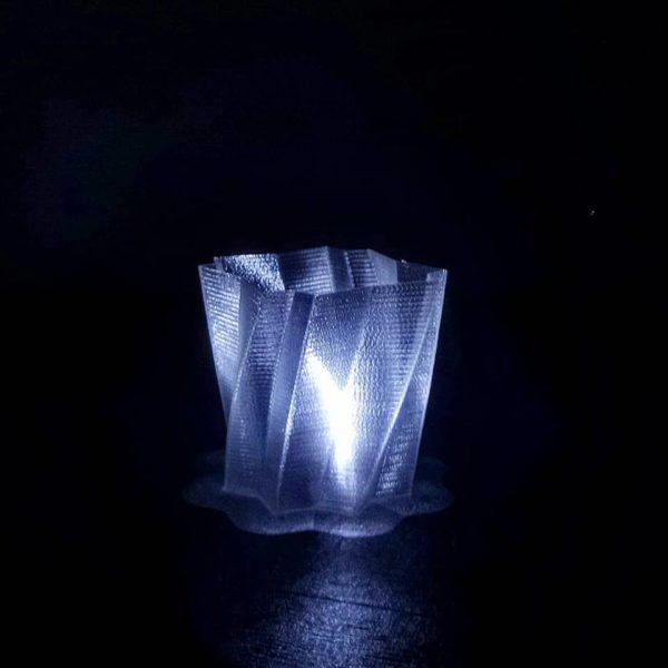 pla filamento crystal trasparente vase spiralize