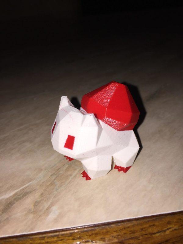 make a shape realizzazione stampa 3d bulbasaur