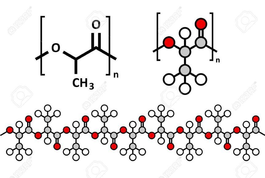 filamento pla struttura molecola