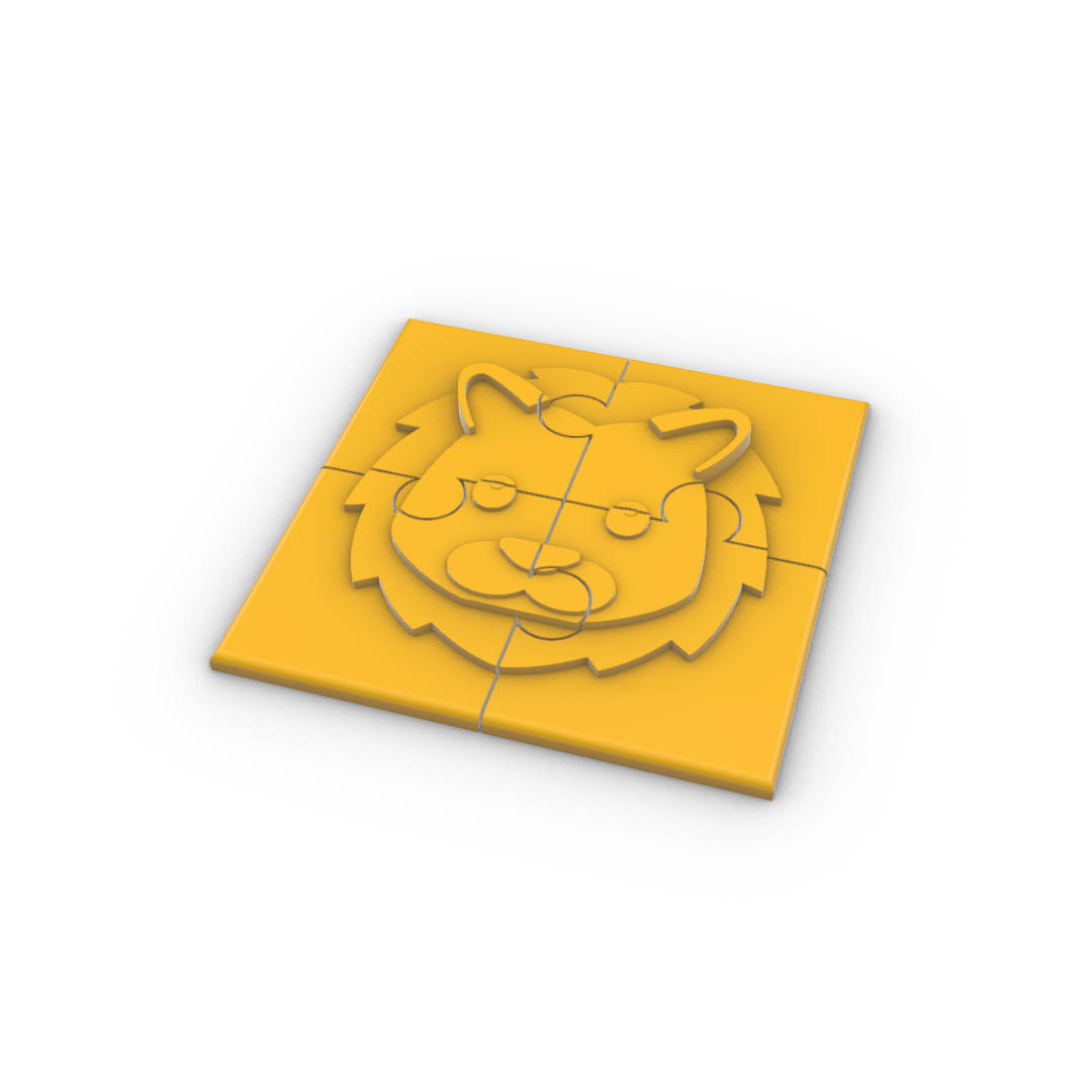 Download modelli 3d - Lion Puzzle