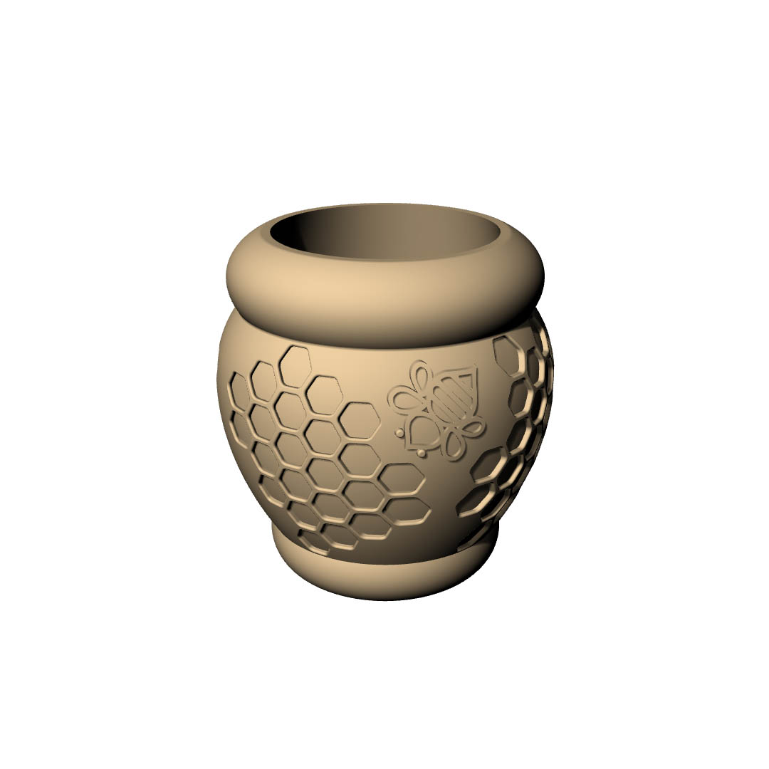 Download modelli 3d - Vaso Esa